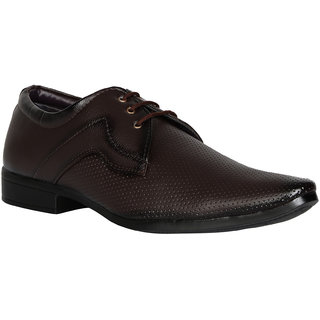 Mykon Men Brown Lace-up Formal Shoes