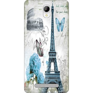 Go Hooked Designer Soft Back Cover For LAVA A56 + Free Mobile Stand (Assorted Design)