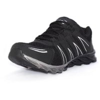 Blue Pop Men Black Lace-up Running Shoes