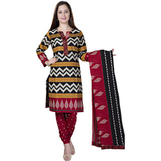 Pari Multicolour Printed Cotton Full Sleeve V Neck Dress For Women