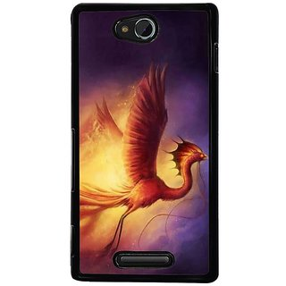 Fuson Designer Phone Back Case Cover Sony Xperia C ( The Fire Dragon )