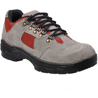 Shoeson Men's Beige Genuine Leather Safety Shoes