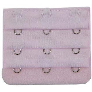 Muquam Baby Pink 3 Hook Bra Strap Extender (Pack of 1)