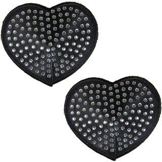 Muquam Black Heart Polyester Reusable Nipple Covers