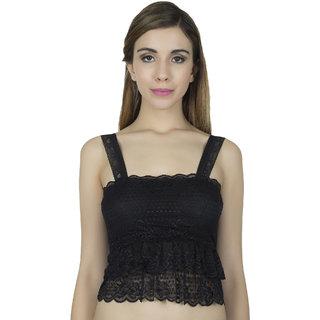 Muquam White Women's Modal & Lace Non-Convertible Bra