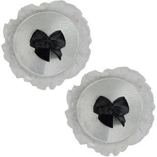 Muquam White Round Polyester Reusable Nipple Covers