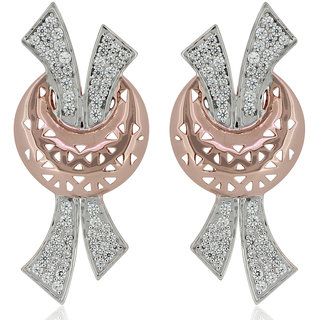 Joal Silver Plated Brown Silver Earings For Women