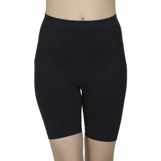 Muquam Black Nylon, Elastane Free size Hip Shapewear.