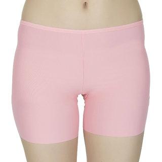 Muquam Light Peach Women's Viscose Solid Safety Pants (Pack of 1)