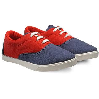 Juan David Mens Blue Lace-up Sneakers