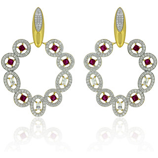 Joal Silver Plated Yellow Silver Earings For Women