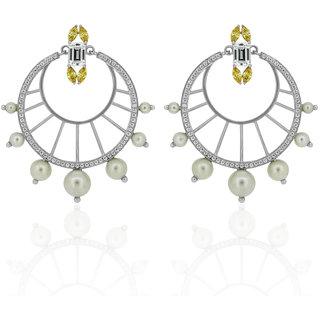 Joal Silver Plated White Silver Earings For Women