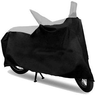 RWT Black & Silver Bike Body Cover For Bajaj Pulsar 150