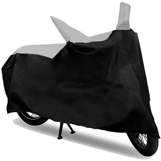 RWT Black & Silver Bike Body Cover For Honda Activa 125