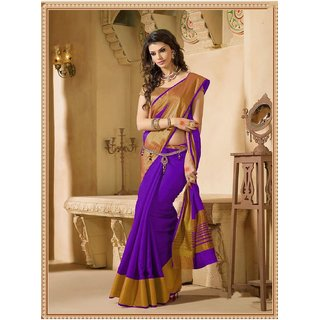 b87ea91ec8f863 Buy Indian Beauty Multicolor Art Silk Lace Saree With Blouse Online - Get  40% Off