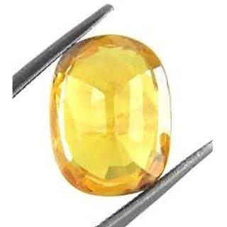 Jaipur Gemstone 4.44 ratti yellow sapphire(pukhraj)
