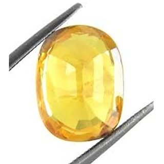 Jaipur Gemstone 7.00 ratti yellow sapphire(pukhraj)