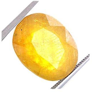 Jaipur Gemstone 9.25 carat yellow sapphire(pukhraj)