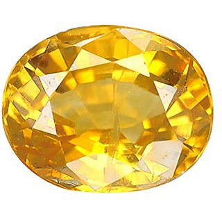 Jaipur Gemstone 8.44 ratti yellow sapphire(pukhraj)