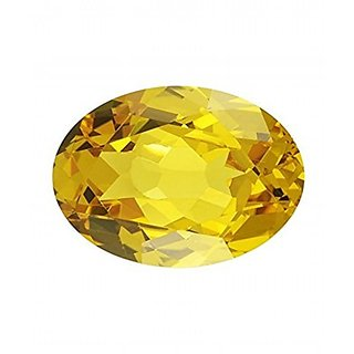 Jaipur Gemstone 5.25 carat yellow sapphire(pukhraj)