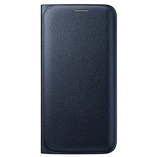 For Samsung Galaxy On7 Imported Leather Type Flip Cover - Black