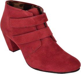 Exotique Women's Maroon Casual Boot (EL0031MN)