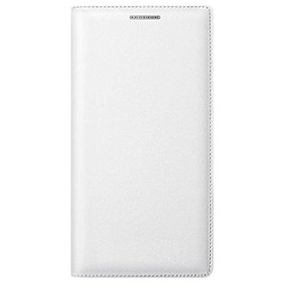 For Oppo A37 Imported Leather Type Flip Cover - White