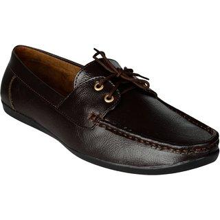 Exotique Men's Brown Loafer Shoes (EX0045BR)