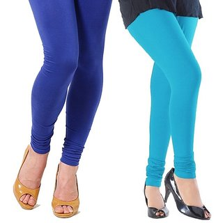 Stylobby Blue and Sky Blue Viscose pack of 2 Leggings