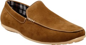 Exotique Men's Tan Loafer Shoes (EX0041TN)