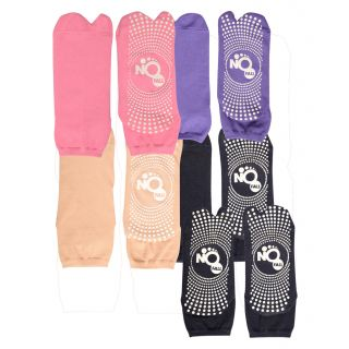 NOFALL Womens Antislip Socks Split Toe with NOFALL Grip (Pack of 5 PAIRS)