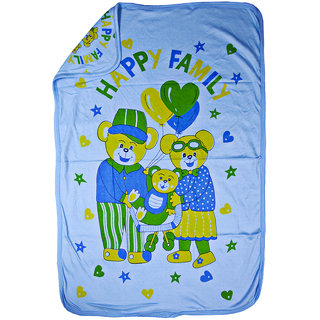 Love Baby Bath Towel Cotton Super Fine Printed With Hood - 1911 Blue