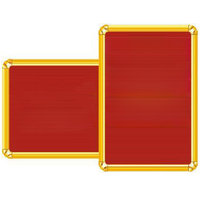 Grooved Board Red Colour 600mm X 900mm