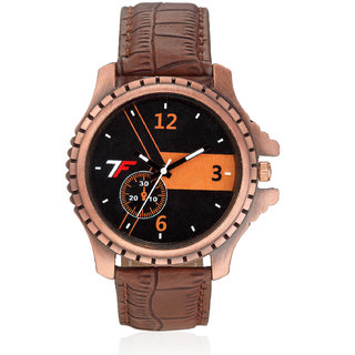 Fashion Track Quartz Brown Round Men Watch FT-2934