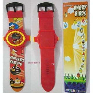 ANGRY BIRDS PROJECTOR DIGITAL WRIST WATCH FOR KIDS BEST GIFT