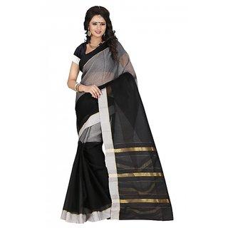 kanak new styles black color cotton saree