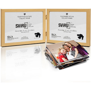 SViRU Hinged/Folding Photo Frame - 6X8 - Natural - Landscape