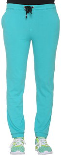 Vimal-Jonney Turquoise Cotton Blended Trackpant For Women
