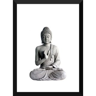 Tallenge - Buddha Reassuring Art Print - Xlarge Size Ready To Hang Framed Digital Art Print On Photographic Paper For Home And Office Decor (20x30 Inches)