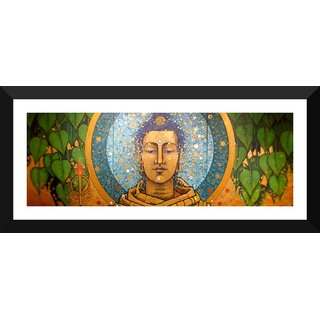 Tallenge - The Ultimate Buddha - Medium Size Ready To Hang Framed Digital Art Print On Photographic Paper For Home And Office Decor (6x18 Inches)