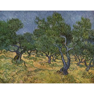 Tallenge - Olive Grove By Vincent Van Gogh - Large Size Unframed Rolled Digital Art Print On Photographic Paper For Home And Office Decor (19x24 Inches)