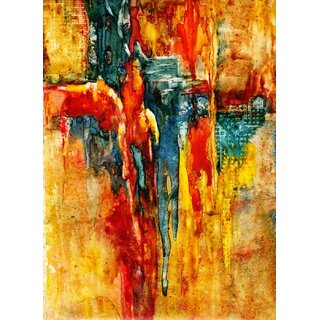 Tallenge - Meltdown - Medium Size Unframed Rolled Digital Art Print On Photographic Paper For Home And Office Decor (13x18 Inches)