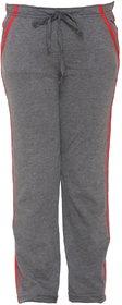 Vimal-Jonney Dark Grey Cotton Blended Trackpant For Girls