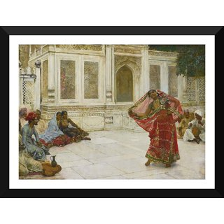 Tallenge - Edwin Lord Weeks - Dancing Girl, India - Small Size Ready To Hang Framed Digital Art Print On Photographic Paper For Home And Office Decor (9x12 Inches)