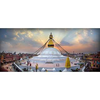 Tallenge - Kathmandu - Large Size Unframed Rolled Digital Art Print On Photographic Paper For Home And Office Decor (10x24 Inches)
