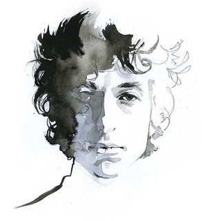 Tallenge - Music And Musicians Collection - Bob Dylan - Water Color Painting - Xlarge Size Unframed Rolled Digital Art Print On Photographic Paper For Home And Office Decor (21x30 Inches)