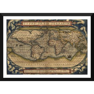 Buy tallenge decorative vintage world map typus orbis terrarum tallenge decorative vintage world map typus orbis terrarum abraham ortelius 1570 small size ready to hang framed digital art print on photographic gumiabroncs Image collections