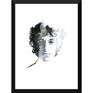 Tallenge - Music And Musicians Collection - Bob Dylan - Water Color Painting - Large Size Ready To Hang Framed Digital Art Print On Photographic Paper For Home And Office Decor (17x24 Inches)