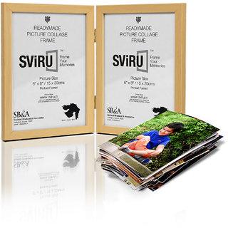 SViRU Hinged/Folding Photo Frame - 6X8 - Natural - Portrait