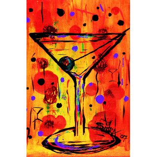 Tallenge - Bar Art - Giant Martini - Large Size Unframed Rolled Digital Art Print On Photographic Paper For Home And Office Decor (16x24 Inches)